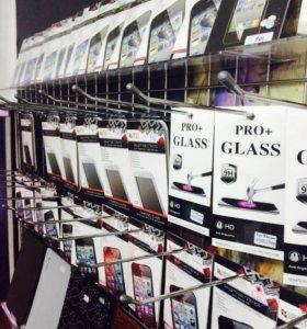 Защитные пленки и каленные стекла на iphone,ipad