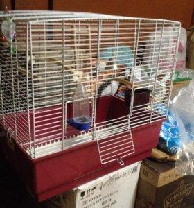 Клетка для птиц в полном комлекте