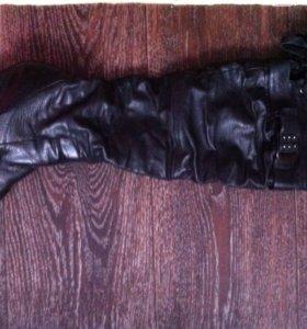 Сапоги кожаные 39 р-р