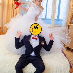 Свадебное платье-шубка в подарок