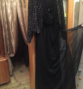 Новое вечернее платье женское чёрное с блесками