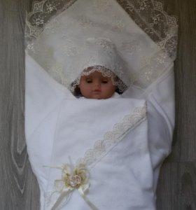Плед одеяло для выписки, крестин