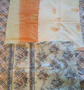 Постельное белье скатерть полотенца б/у