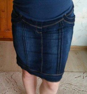 Юбка джинсовая для будущих мам.