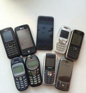 Продам телефоны.айфон-на запчасти