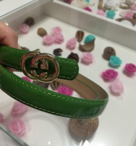 Новый ремешок Gucci зеленый лак