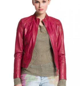 Кожаная куртка HUGO BOSS, размер 40-42, 44, 46-48