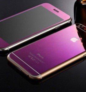 Фиолетовое стекло для Iphone 6