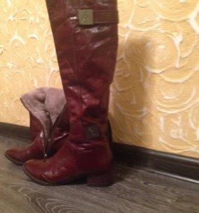 Продам сапоги женские кожаные зимние.