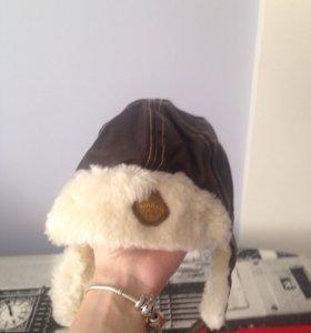 Демисезонная шапка на мальчика 6-12 мес