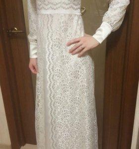 платье с жакетом из льна