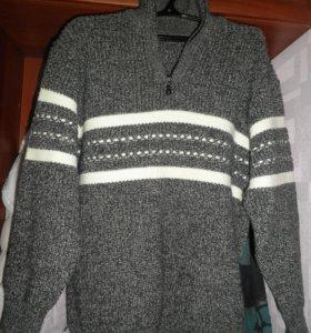 Новый тёплый мужской свитер