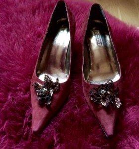 Туфли,замша, 39 размер