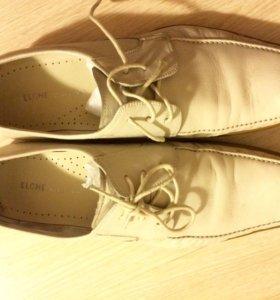 Мужские туфли Elche натуральная кожа 44 размер