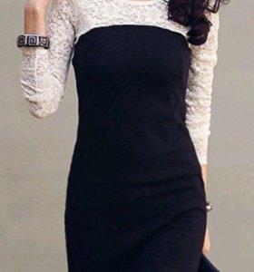 Платье с кружевным рукавом почти даром