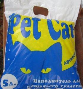 Наполнитель для кошачьего туалета PetCat древесный