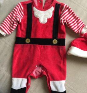 костюм Дед Мороз, новогодний костюм