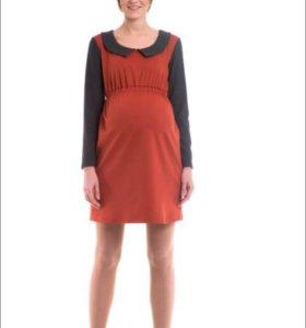 Новое! Тёплое платье для беременных