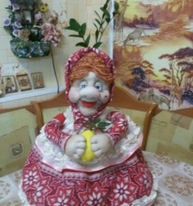 Баба на чайник своими руками