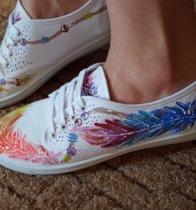 Роспись обуви на заказ