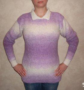 Пуловер женский ручной работы