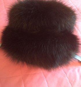 Зимняя шапка мехчернобурки