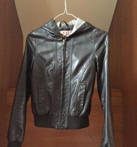 Касуха, кожаная  куртка