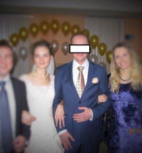 Костюм мужской итальянский свадебный тонк. шерсть