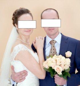 Свадебное платье фата