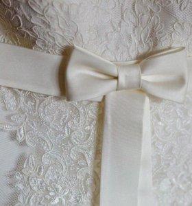 Свадебное платье+чехол+подушка для колец