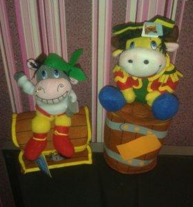 мягкая игрушка бычёк-пират