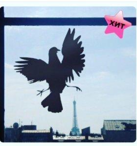 Виниловая наклейка в виде голубя