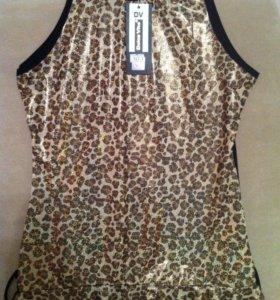 Красивая блузка с тигровым принтом (новая)