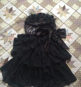 """Платье коктельное """"маленькое черное платье"""""""