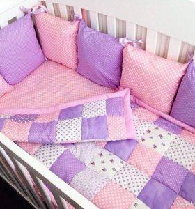 Бортики на кроватку на заказ