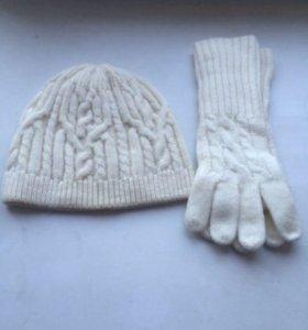 Шапка перчатки