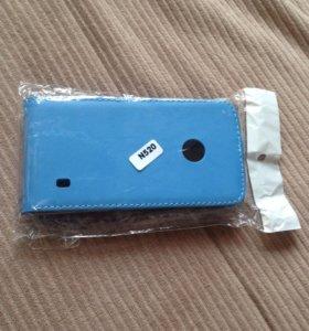 чехол на Nokia n520 нат кожа