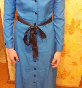 Платье новое синее