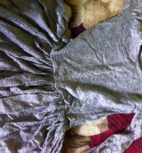 Серое платье ,кружевное
