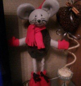 Мышка-лыжник