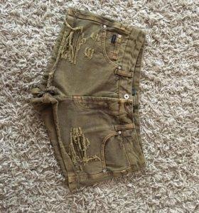 Новые шорты джинсовые pull&bear