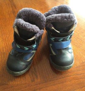 Полусапожки ботинки 25 р зимние кожаные
