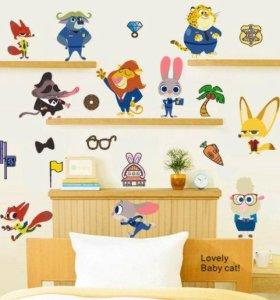 Декоративная наклейка на стену