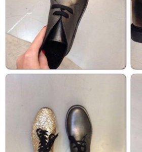 Женские кожаные ботинки новые!!!