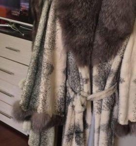 Шуба из декоративного кролика