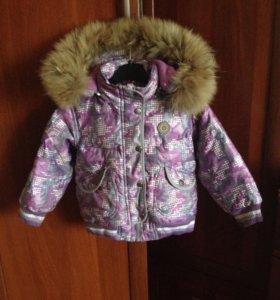 Куртка осень - зима пуховик на 92-98 см