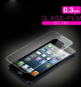 Защитные стекла на iPhone 5, 5c, 5s