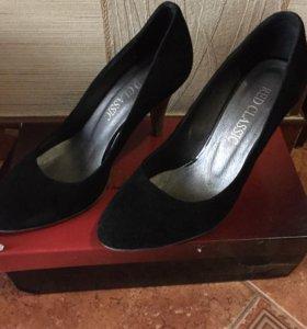 Туфли замшевые, бу, размер 38