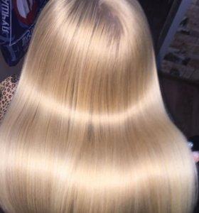 Долговременное кератиновое выпрямление волос