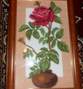 Вышивка Роза ( крестиком)